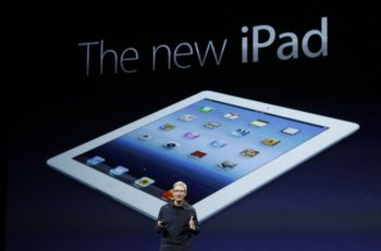 Apple CEO Cook introduces the new iPad during an Apple event in San Francisco, California
